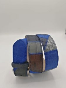 Nabuk patchwork belt