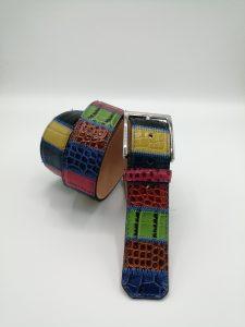 Quadri multicolor col.171 Patchwork belt